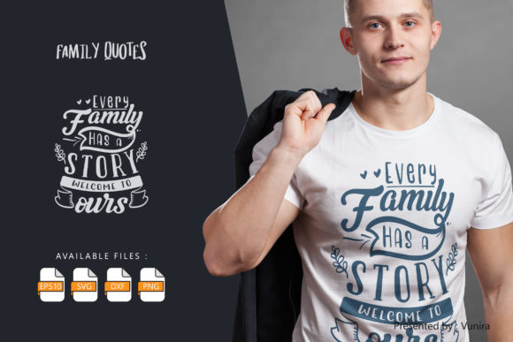 Familly   Lettering Quotes Graphic
