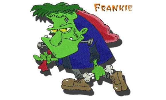 Frankie Halloween Embroidery Design By BabyNucci Embroidery Designs