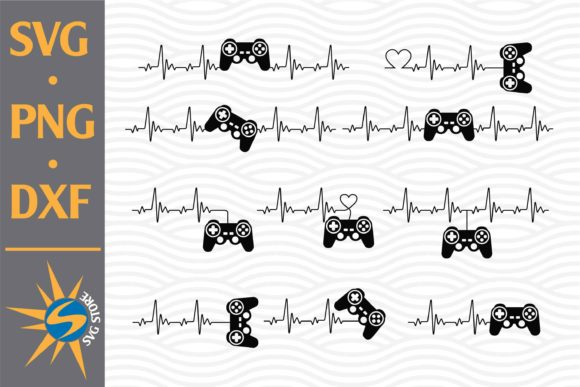 Download Game Controller Heartbeat SVG Cut Files