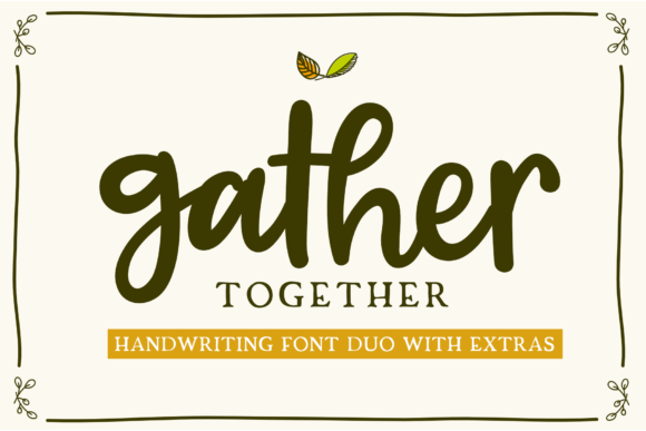 Print on Demand: Gather Together Script & Handwritten Font By silverdav