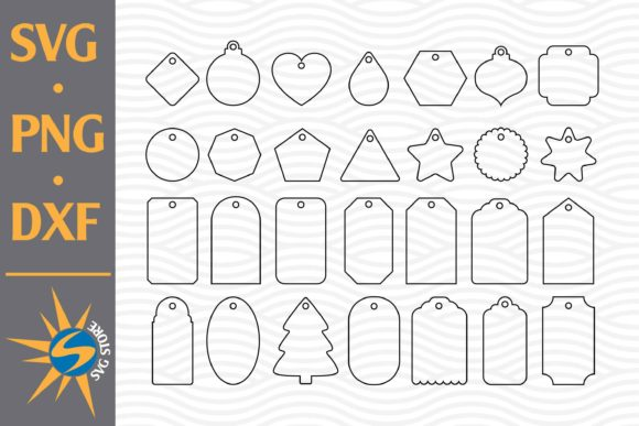 Print on Demand: Gift Tag Outline Graphic Crafts By SVGStoreShop