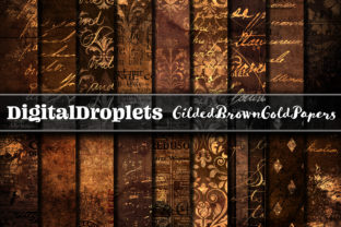 Gilded Brown Gold Graphic Textures By digitaldroplets