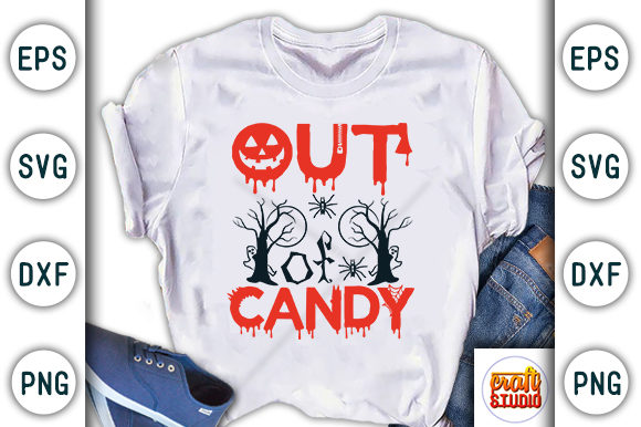 Print on Demand: Halloween Quote Design, out of Candy Graphic Print Templates By CraftStudio