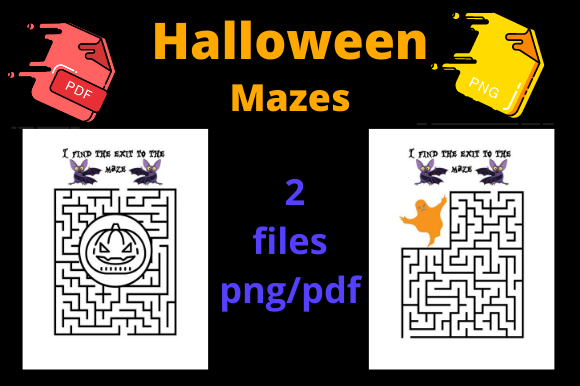 Print on Demand: Halloween Mazes for KDP Graphic KDP Interiors By Dunkyshot