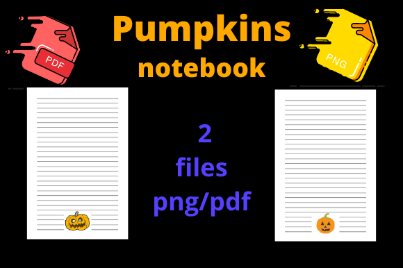Print on Demand: Halloween Notebook Pumpkin for KDP Graphic KDP Interiors By Dunkyshot