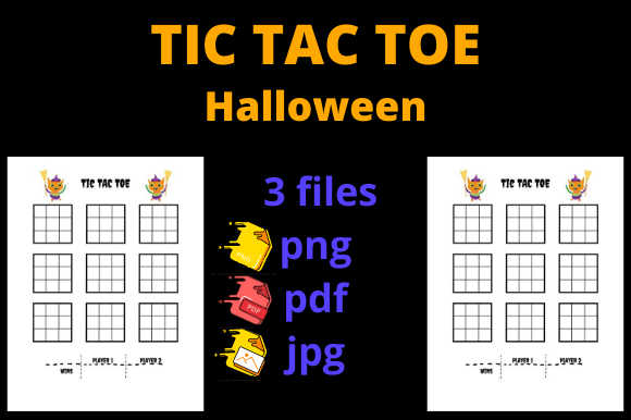 Print on Demand: Halloween Tic Tac Toe for KDP Graphic KDP Interiors By Dunkyshot