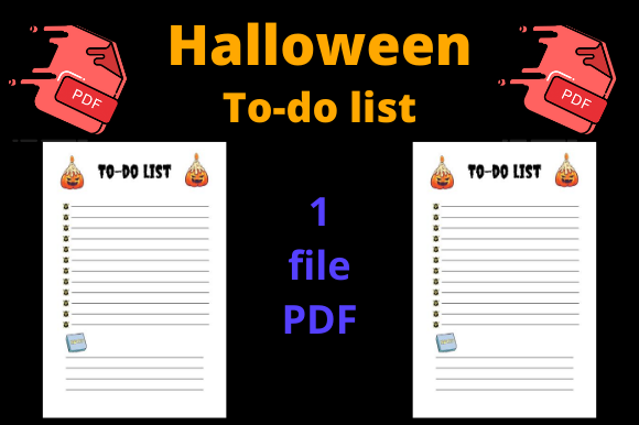 Print on Demand: Halloween to-do List for Kdp Graphic KDP Interiors By Dunkyshot