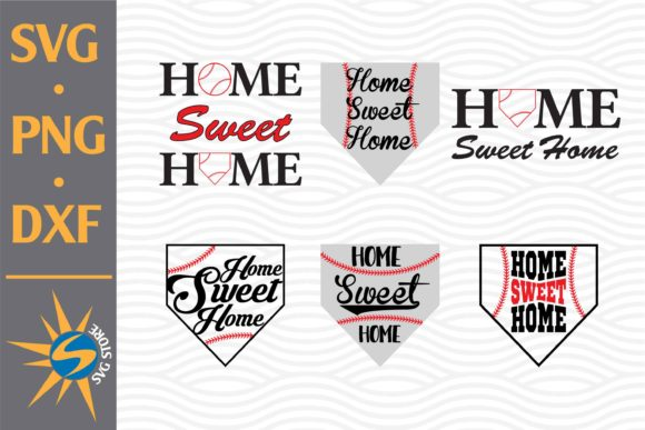 Print on Demand: Home Sweet Home Baseball Graphic Crafts By SVGStoreShop