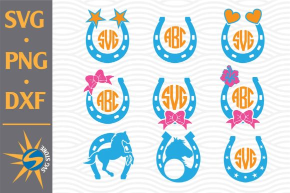 Print on Demand: Horse Shoe Monogram Graphic Crafts By SVGStoreShop