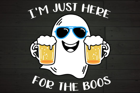 I'm Here for the Boos Beer Lover Ghost Graphic Crafts By NiceToMeetYou