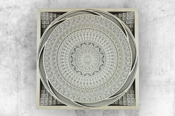 Layered Mandala, Cut File Mandala Graphic 3D SVG By vectormarket