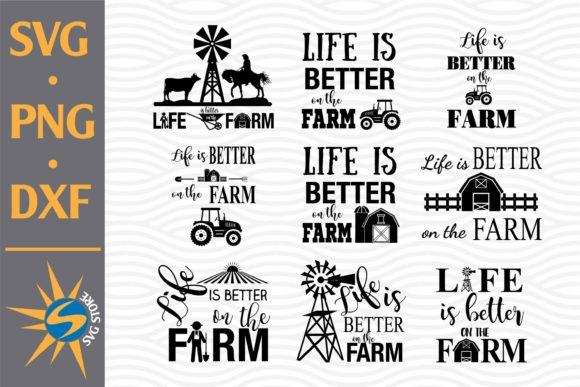 Print on Demand: Life is Better on the Farm Graphic Crafts By SVGStoreShop