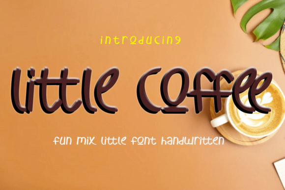 Print on Demand: Little Coffee Script & Handwritten Font By koko.sample