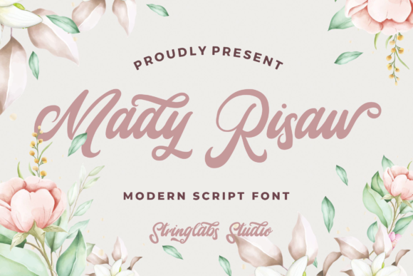 Print on Demand: Mady Risaw Script & Handwritten Font By StringLabs