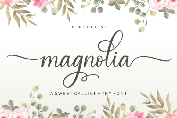 Print on Demand: Magnolia Script & Handwritten Font By MJB Letters