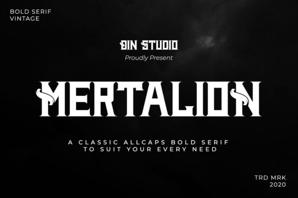 Print on Demand: Mertalion Serif Font By Din Studio