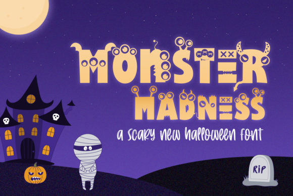 Print on Demand: Monster Madness Display Font By Salt & Pepper Designs
