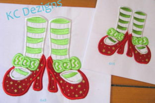 Mrs Clause Feet Christmas Embroidery Design By karen50