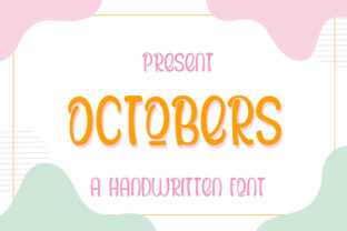 Print on Demand: Octobers Display Font By edwar.sp111 1