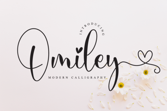 Print on Demand: Omiley Script & Handwritten Font By NissaStudio