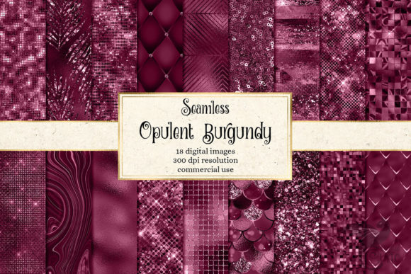 Print on Demand: Opulent Burgundy Textures Graphic Textures By Digital Curio