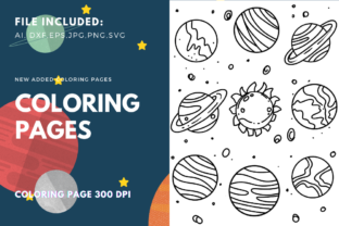 Print on Demand: Planets Space Coloring Pages Graphic Coloring Pages & Books Kids By stanosh