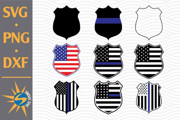Print on Demand: Police Shield, Police Shield US Flag Graphic Crafts By SVGStoreShop