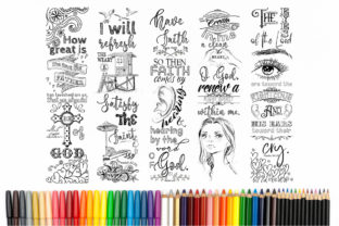 Printable Coloring Bookmarks Set #7 Graphic Crafts By Words Count Designs