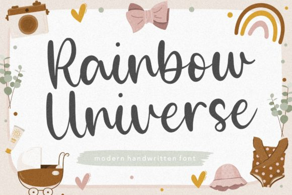 Print on Demand: Rainbow Universe Script & Handwritten Font By Balpirick