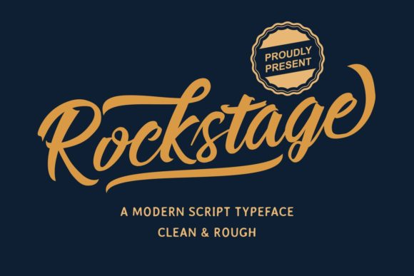 Print on Demand: Rockstage Script & Handwritten Font By Mozarella