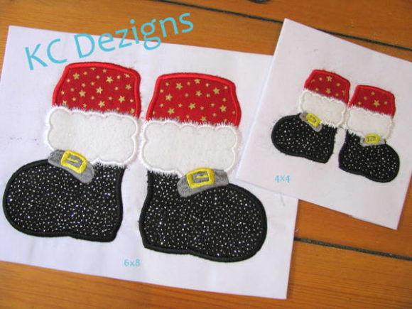 Santa Feet Christmas Embroidery Design By karen50