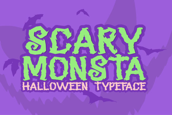 Print on Demand: Scary Monsta Display Font By RT Studio