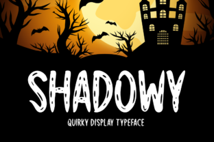 Print on Demand: Shadowy Display Font By Seemly Fonts
