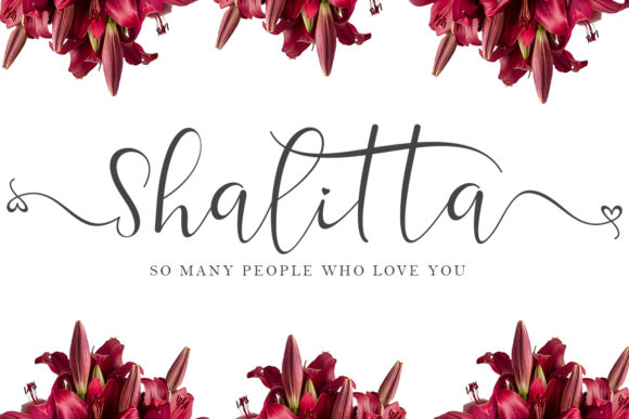 Print on Demand: Shalitta Script & Handwritten Font By yogaletter6