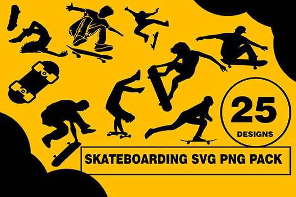 Skateboard Designs Bundle Graphic Illustrations By CactusTreeDesigns