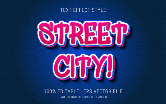 Street City Text Effect Style Graphic Layer Styles By Neyansterdam17