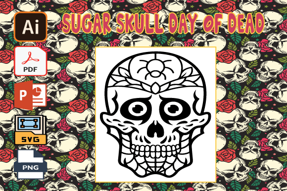 - Sugar Skull Day Of The Dead Coloring (Graphic) By Tatus Brinal · Creative  Fabrica