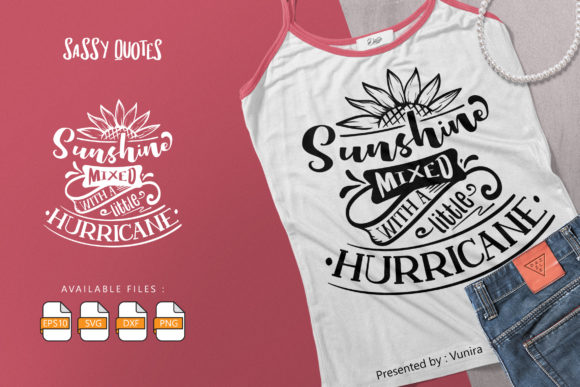 Print on Demand: Sunshine Mixed with a Little Hurricane Graphic Crafts By Vunira