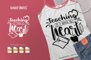 Print on Demand: Teacher   Lettering Quotes Graphic Crafts By Vunira
