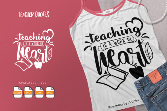 Print on Demand: Teacher | Lettering Quotes Graphic Crafts By Vunira