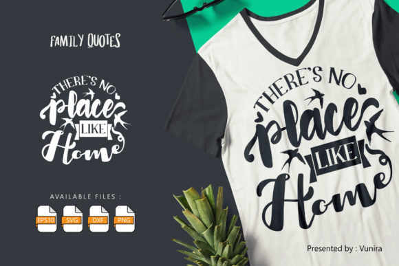 Print on Demand: Theres No Place Like | Lettering Quotes Graphic Crafts By Vunira