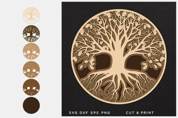 Tree of Life 3D Layered Graphic
