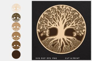 Tree of Life 3D Layered Graphic 3D SVG By 2dooart