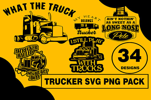 Trucker Designs Bundle Graphic Illustrations By CactusTreeDesigns
