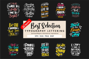 Print on Demand: Typography Lettering Bundle Vector Graphic Objects By Universtock