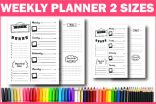 Print on Demand: Undated Weekly Planner Ready for KDP Graphic KDP Interiors By Fayne