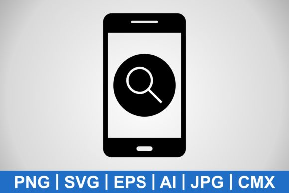 Print on Demand: Vector Search Mobile Application Icon Graphic Icons By IYIKON