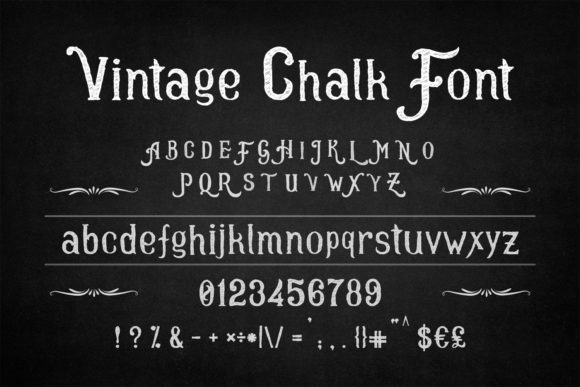 Print on Demand: Vintage Chalk Manuscrita Fuente Por OWPictures