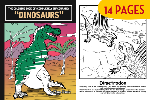 14 Inaccurate Dinosaur Coloring Pages Graphic Coloring Pages & Books Kids By dianeramic