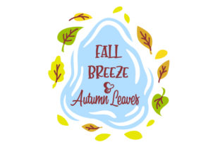 Fall Breeze and Autumn Leaves Fall Craft Cut File By Creative Fabrica Crafts